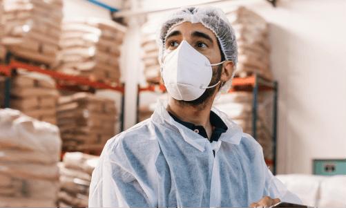 frontline worker in factory