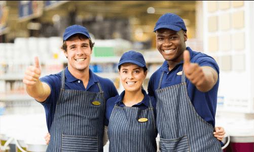 happy retail employees